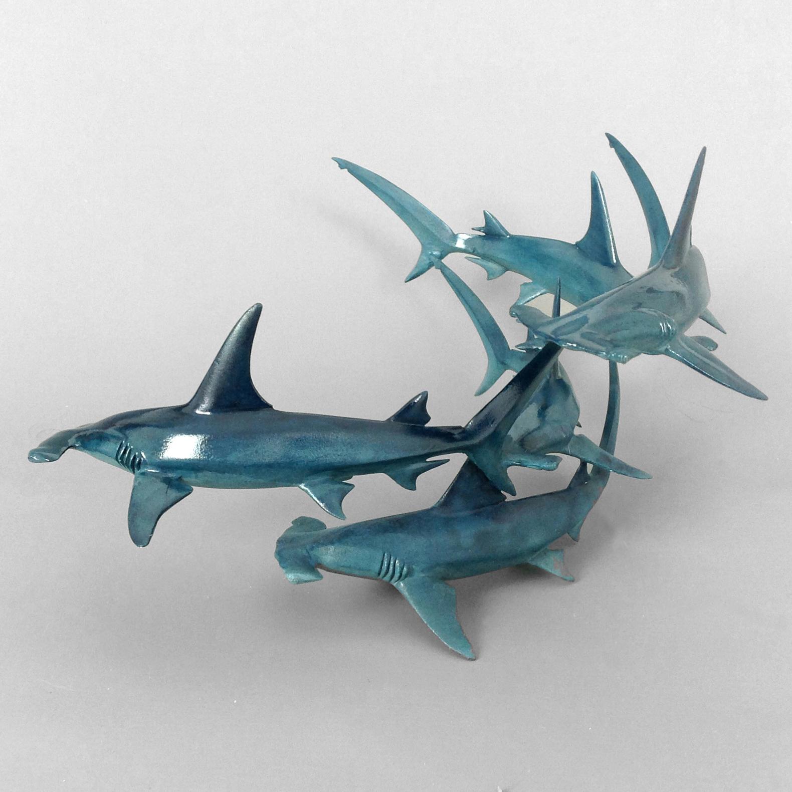hammerhead shark sculpture bronze hammerhead sharks hammerhead